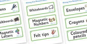 Hazel Tree Themed Editable Writing Area Resource Labels - Themed writing resource labels, literacy area labels, writing area resources, Label template, Resource Label, Name Labels, Editable Labels, Drawer Labels, KS1 Labels, Foundation Labels, Founda