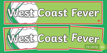 West Coast Fever Netball Display Banner-Australia
