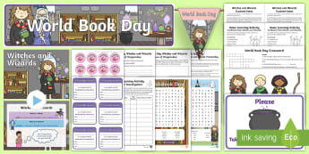 World Book Day Whole School Witches and Wizards Themed Day Activity Pack - harry potter, hogwarts, jK Rowling, wbd 2018, school wide event, assembly, authors, reading, quiz, f