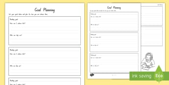 Student-Led Conference Goal Planning Activity - reports, managing self, conferences, new zealand, goals, progress, updates, goal setting
