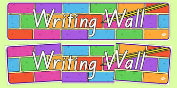 Writing Wall Display Banner NZ Font - nz, new zealand, writing, write, writing wall