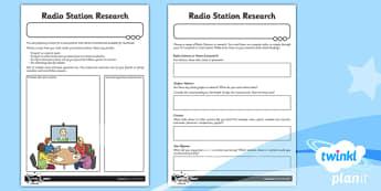 Computing: Radio Station Year 5 Unit Home Learning Tasks