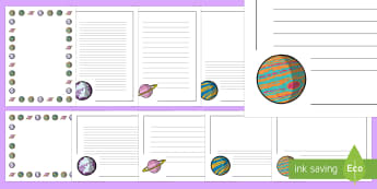 Planet Page Border Pack - planets, space, earth and space, orbits, galaxy, new planets, creative writing,