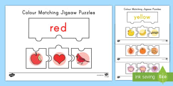 Color Matching Jigsaw Puzzles - color, color matching jigsaw puzzle, color puzzle, color matching puzzle, games, fine motor