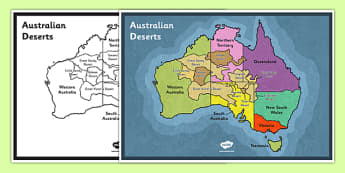 Australian Deserts Map - Science, Geography, Habitats, Australian Curriculum, Desert, Map