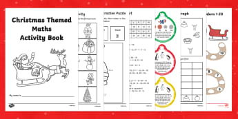 Christmas Themed Maths Activity Book - christmas, maths, activity