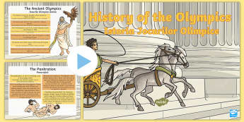 History of the Olympics PowerPoint English/Romanian - History of the Olympics,olympics,sport, Olympic Games, Ancient Greece, Romanian translation