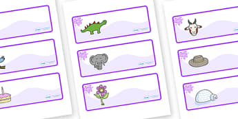 Purple Themed Editable Drawer-Peg-Name Labels - Themed Classroom Label Templates, Resource Labels, Name Labels, Editable Labels, Drawer Labels, Coat Peg Labels, Peg Label, KS1 Labels, Foundation Labels, Foundation Stage Labels, Teaching Labels