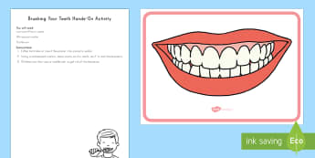 Brushing Your Teeth Hands-On Activity - teeth, brushing teeth, personal hygiene, personal care, early childhood, dentist visit
