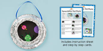 Spaceship Porthhole Craft Instructions - space, crafts, activity