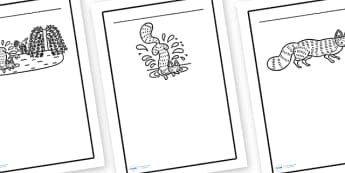 Writing Frames to Support Teaching on Rosie's Walk - writing frame, frame, writing, rosies walk, rosies walk writing frames, rosies walk page borders, writing aid, writing template, template, literacy