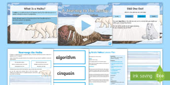 A Journey to the Arctic: Writing Arctic Haikus Lesson Pack - digital workshop, polar regions, north pole, poetry, poem, reciting poetry, english, Y6, Y5, arctic
