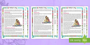 UKS2 Mother's Day Differentiated Reading Comprehension Activity -  mothering sunday, laetare sunday, retrival, vocabulary, inference, content domains, understanding,