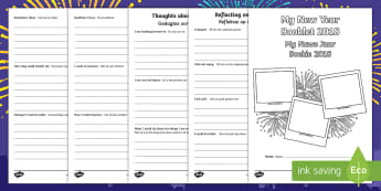 New Year Activity Booklet English/Afrikaans - January, celebrate, festive, traditions, write, literacy, EAL