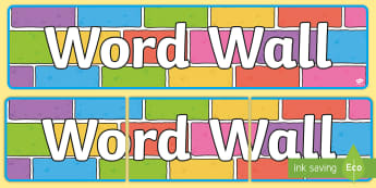 graphic about Word Wall Printable titled Term Wall - Creating Structure - Text Vocab