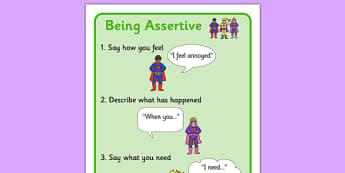 Assertiveness Skills Visual Support Superheroes - assertive