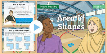 Year 4 Area Maths Mastery PowerPoint - Reasoning, Greater Depth, Abstract, Problem Solving, Explanation