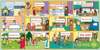 Informal Language (Neamhfhoirmiúil) Junior and Senior Infants Display Posters Gaeilge - ROI, Gaeilge, neamhfhoirmiúil, informal language, posters, display, conversation,Irish