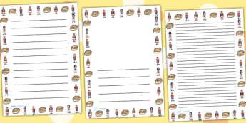 Hot Cross Buns Page Borders - Hot Cross Buns, page border, border, writing template, frame, nursery rhyme, rhyme, rhyming, nursery rhyme story, nursery rhymes, Easter, Hot Cross Bun rhyme resources