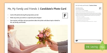 Me My Family and Friends 1 Photo Card Foundation Tier French - ks4, GCSE, French
