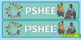 PSHEE Display Banner - PSHEE Display Banner - pshe, display banner, display, banner, personal social health and economic ed