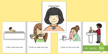 Keeping Clean Emergent Reader eBook - keeping clean, personal hygiene, hygiene, ebook, emergent reader, keeping clean ebook