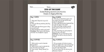 Stig of the Dump Guided Reading Chapter 2 - story, reading aid