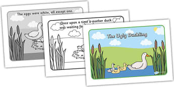 The Ugly Duckling Story - the ugly duckling, the ugly duckling story, the ugly duckling story sequencing, ugly ducking story with words, traditional tales