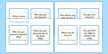 Guided Reading Activities - guided reading activities, question