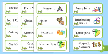 Grasshopper Themed Editable Construction Area Resource Labels - Themed Construction resource labels, Label template, Resource Label, Name Labels, Editable Labels, Drawer Labels, KS1 Labels, Foundation Labels, Foundation Stage Labels