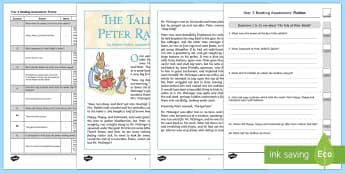 Year 3 Reading Assessment Fiction Term 2 - test, sats, summative, diagnostic, comprehension