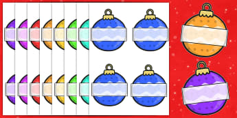 Christmas Editable Self Registration Baubles Patterned - christmas, xmas, self registration, self-registration, editable, editable labels, editable self registration labels, baubles, patterned baubles, self registration labels on baubles, labels, reg