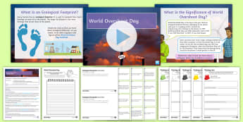 World Overshoot Day Lesson Pack - Resources, ecological footprint, environment, recycling, thinking hats, renewable resources