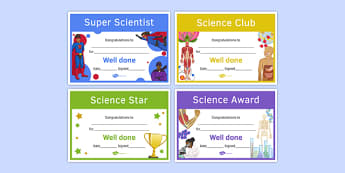 Science Awards Resource Pack