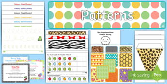 Childminder Patterns EYFS Resource Pack - EYFS Patterns, shape space measure, repeating patterns, child minder, childminding