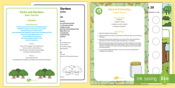Parks and Gardens Quiet Time Box - play ground, play park, swings, table top activity, table top activities