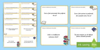Întrebări pentru citirea ghidată Cartonașe - lectură, analiză text, comentarii pe marginea textului, analiza textului, română,Romanian