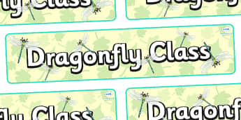 Dragonfly Themed Classroom Display Banner - Themed banner, banner, display banner, Classroom labels, Area labels, Poster, Display, Areas
