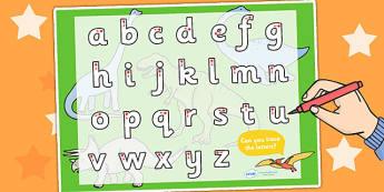 Dinosaur Themed Letter Writing Activity Sheet - dinosaurs, writing