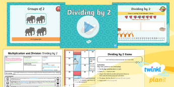 PlanIt Maths Y2 Multiplication and Division Lesson Pack Multiplication and Division Facts (2) - Multiplication and Division, grouping, reasoning, instant recall, learned facts, fluency, context pr