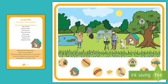 In and Out Can You Find...? Poster and Prompt Card Pack - early concepts, finding, birth to 2, birth to two, in, out