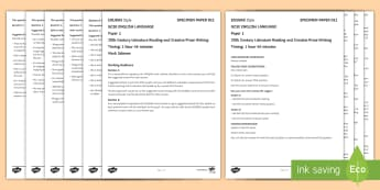 011 Eng Lang EDUQAS Style P1 Exam Questions Pack - English language GCSE Exam Papers, WJEC, EDUQAS, Reading, Writing, C19th Literature, Creative Prose,