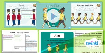 Twinkl Move - Year 2 Dance: Toys Lesson 6 - Toy Soldiers - Move, Key Stage 1, KS1, Year 2, Y2, Dance, PE, Physical Education, Sport, Exercise, Toys, Toy Soldie