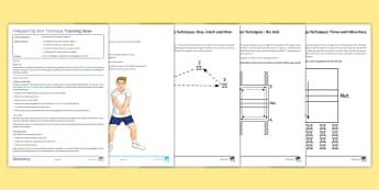 Volleyball Lesson 3: Dig Shot - PE, Volleyball, KS3, lesson plan, Dig shot, under, technique, set, indoor