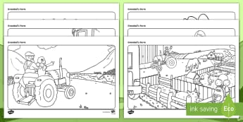 Grandad's Farm Colouring Pages - ROI, Grandad's Farm, Farm, colouring Pages, Activity, Aistear,Irish