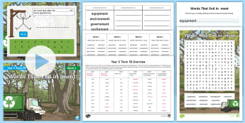 Year 5 Term 1B Week 4 Spelling Pack  - Spelling Lists, Word Lists, Autumn Term, List Pack, SPaG