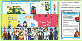 People Who Help Us Resource Pack - Police, Support, Doctor, Community, Local, Area, Society, post, fire,Scottish