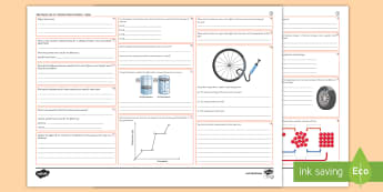 Unit 4.3 Particle Model of Matter Higher Revision Activity Mat  - Density, changes state, internal energy, specific heat capacity, latent ,  pressure gases