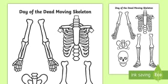 Day of the Dead Split Pin Skeleton Activity