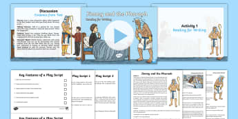 Jimmy and the Pharaoh: Reading for Writing Resource Pack - power of reading, Narrative, prose, story, short story, lesson, lesson plan, english, jimmy and the